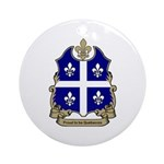 Proud Quebecois Ornament (Round)