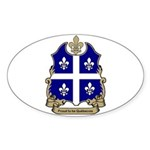 Proud Quebecois Oval Sticker