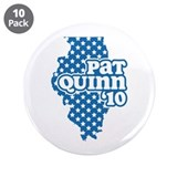 "Pat Quinn 2010 3.5"" Button (10 pack)"