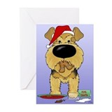 Airedale Santa's Cookies Greeting Cards (Pk of 10)