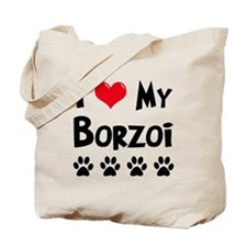 I Love My Borzoi Tote Bag