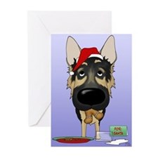 German Shepherd Santa Greeting Cards (Pk of 20)