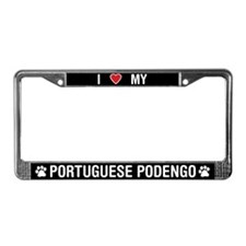 I Love My Portuguese Podengo License Plate Frame