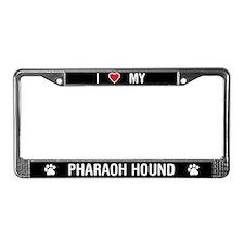 I Love My Pharaoh Hound Plate Frame