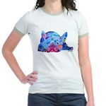 French Bulldog Frenchies Jr. Ringer T-Shirt