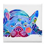 French Bulldog Frenchies Tile Coaster