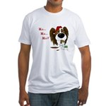 Papillon Santa's Cookies Fitted T-Shirt