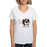 Papillon Santa's Cookies Women's V-Neck T-Shirt