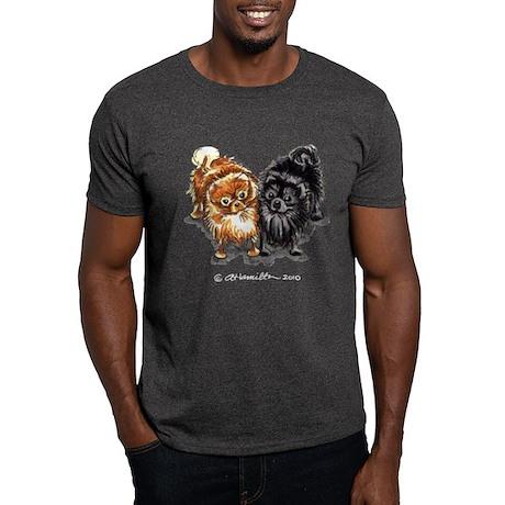 Black Red Pomeranian Dark T-Shirt