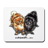Black Red Pomeranian Mousepad