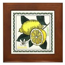 Lemon Framed Tile