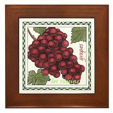Grapes Framed Tile