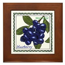 Blueberry Framed Tile