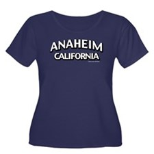 Anaheim Women's Plus Size Scoop Neck Dark T-Shirt