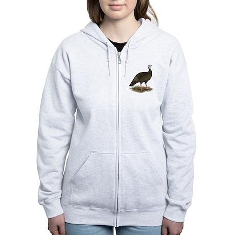 Turkey: Eastern Wild Hen Women's Zip Hoodie