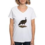 Turkey: Eastern Wild Hen Women's V-Neck T-Shirt