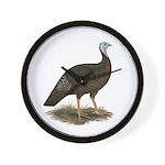 Turkey: Eastern Wild Hen Wall Clock