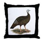Turkey: Eastern Wild Hen Throw Pillow