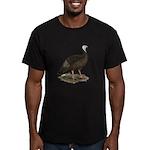 Turkey: Eastern Wild Hen Men's Fitted T-Shirt (dar