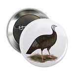 """Turkey: Eastern Wild Hen 2.25"""" Button (100 pa"""