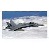 U.S. Navy F/A-18C Hornet Sticker (Rectangular)