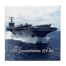 USS Constellation (CV 64) Tile Coaster