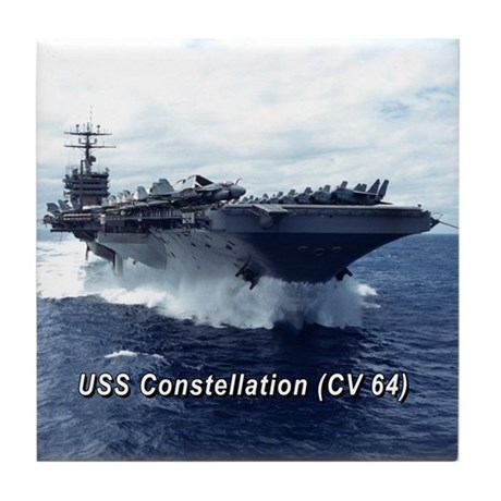 USS Constellation (CV 64) Tile Coaster