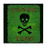 Funny Toxic Waste Tile Coaster