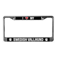 I Love My Swedish Vallhund License Plate Frame