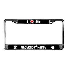 I Love My Slovensky Kopov License Plate Frame