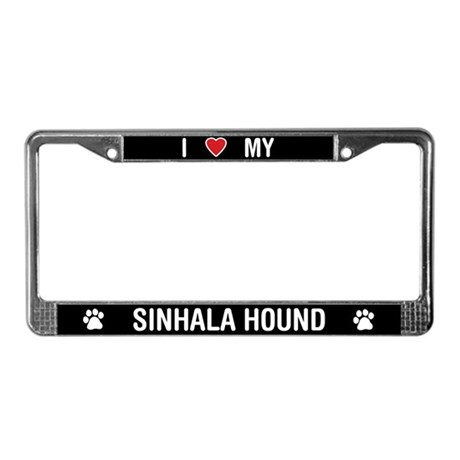 I Love My Sinhala Hound License Plate Frame
