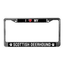 I Love My Scottish Deerhound License Plate Frame