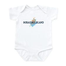 Ocracoke Island - Seashells Design Infant Bodysuit