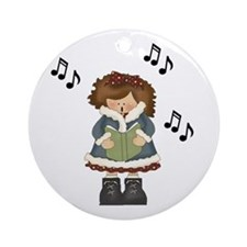Cute Girl Caroler Music Ornament Gift