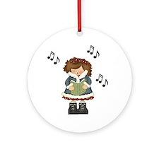 Cute Girl Caroler Music Ornament Gift