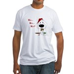 Poodle Santa's Cookies Fitted T-Shirt