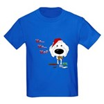 Poodle Santa's Cookies Kids Dark T-Shirt