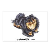 Black Tan Pomeranian Postcards (Package of 8)