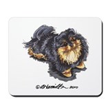 Black Tan Pomeranian Mousepad