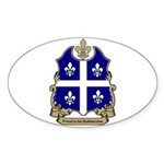Proud Quebecoise Oval Sticker