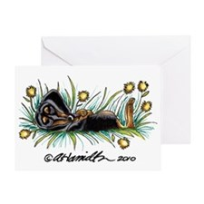 Dandelion Dachshund Lover Greeting Card
