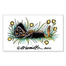 Dandelion Dachshund Lover Decal