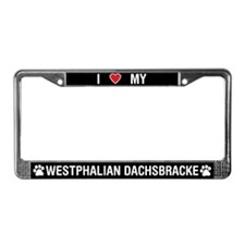 Love My Westphalian Dachsbracke License PlateFrame