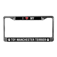 Love My Toy Manchester Terrier License Plate Frame