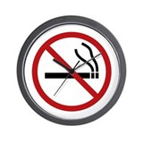 NO SMOKING Wall Clock