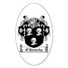 O'Kennedy Family Crest Oval Stickers