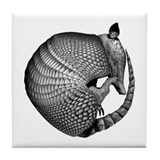 Sleeping Armadillo Tile Coaster