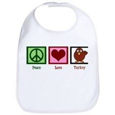 Peace Love Turkey Bib