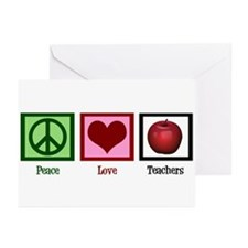 Peace Love Teachers Greeting Cards (Pk of 20)