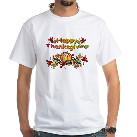 Thanksgiving White T-Shirt